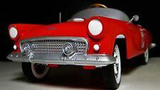 A Pedal Car 1956 Ford Thunderbird A Vintage Fire Red Hot T Rod Midget Model 1955