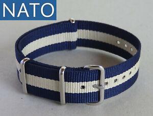 BRACELET-MONTRE-NATO-18mm-navy-sable-chronograph-military-watch-mechanical-strap