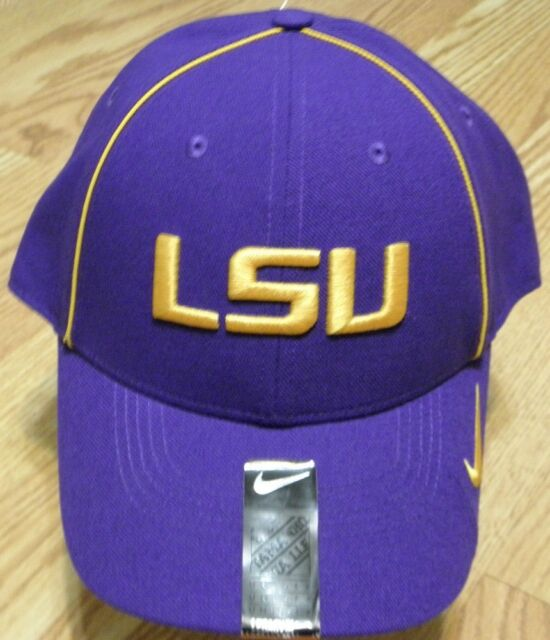 Nike Dri Fit LSU Tigers Mens Legacy 91 Sideline Hat Cap Purple ... 1421f64233e