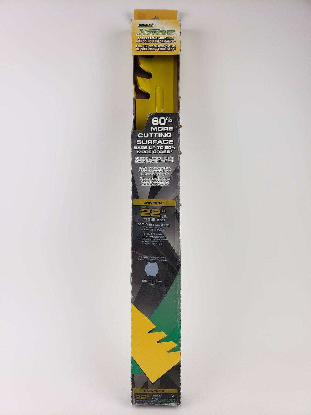 """Arnold Extreme Universal 22/"""" Lawn Mower Mulching and Bagging Blade 490-100-0102"""