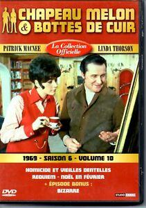 Détails sur DVD CHAPEAU MELON ET BOTTES DE CUIR 1969 SAISON 6 VOLUME 10 4 ÉPISODES SÉRIE TV