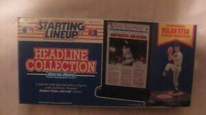 Starting Lineup Headline Collection Nolan Ryan Texas Ranger From Kenner NEW t127