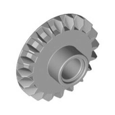 Lego 2x Genuine Technic Medium Stone Grey Z28 Angled Gear Cog 6259270 46372 NEW