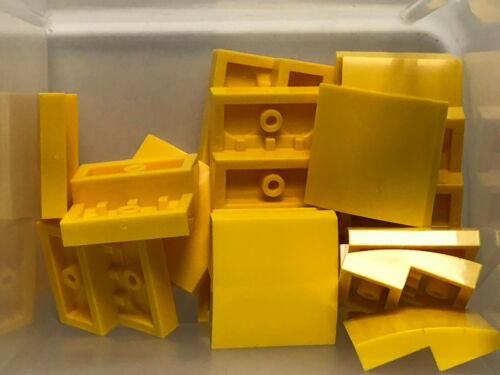 QTY 20 Yellow Slope Curved 2 x 2 No Studs No 15068 LEGO Parts