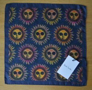 PAUL-SMITH-Psychedelic-Sun-suit-pocket-square-handkerchief-100-Silk