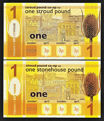 England,s Transition Town 1st Issue 2009 BRIXTON One Pound UNC