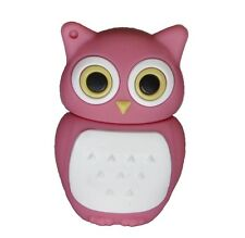 8 GB di memoria USB CHIAVETTA chiave di memoria flash drive GUFO OWL PINK ROSA BIANCO
