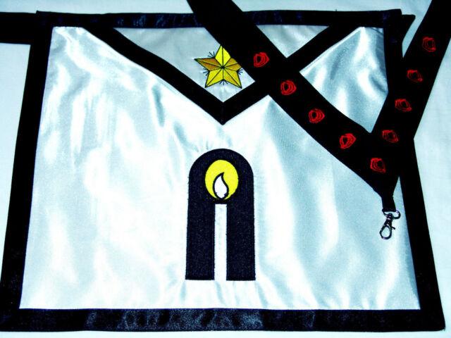 Masonic Scottish Rite 9 Degree Elected Knight of the Nine Regalia Apron + Collar