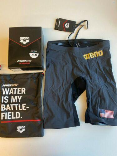 Arena Powerskin Carbon Air Race Tech Suit Jammer Men/'s US Size 32 LARGE LOGO
