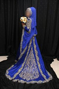 royal blue wedding dress asian