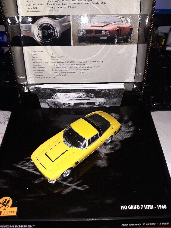 Minichamps 1 43 Iso Grifo 7 Litri 1968 jaune