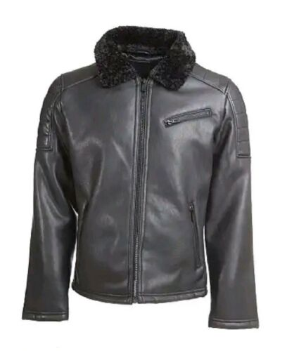 By Black Borg Large Nation Condemned Glorious Lined Faux Gangsta Leather Jacket gYPqOTzU