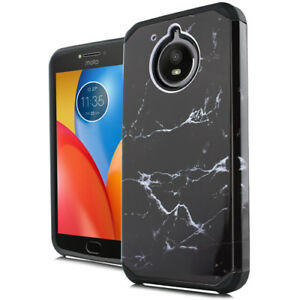 info for 1f1c1 43989 Details about For Motorola Moto E4+ PLUS Black Marble Hard Rubber Hybrid  Protector Case Cover