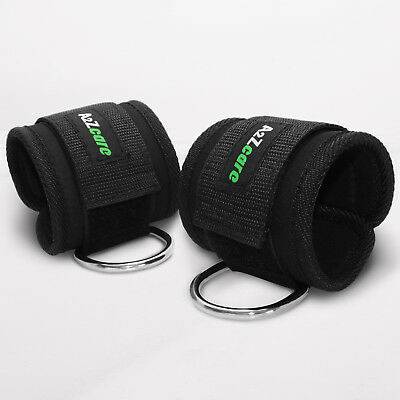 Sedroc Padded Ankle Strap D-Ring Attachment for Cable Machines Fits Men or Women