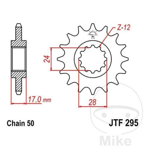 JT Front Sprocket 14T 530 Pitch JTF295.14 Honda CBR 600 F 1990