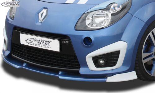 RDX Spoilerlippe für Renault Twingo 2 II RS Phase 1 I Ansatz Schwert Front Lippe
