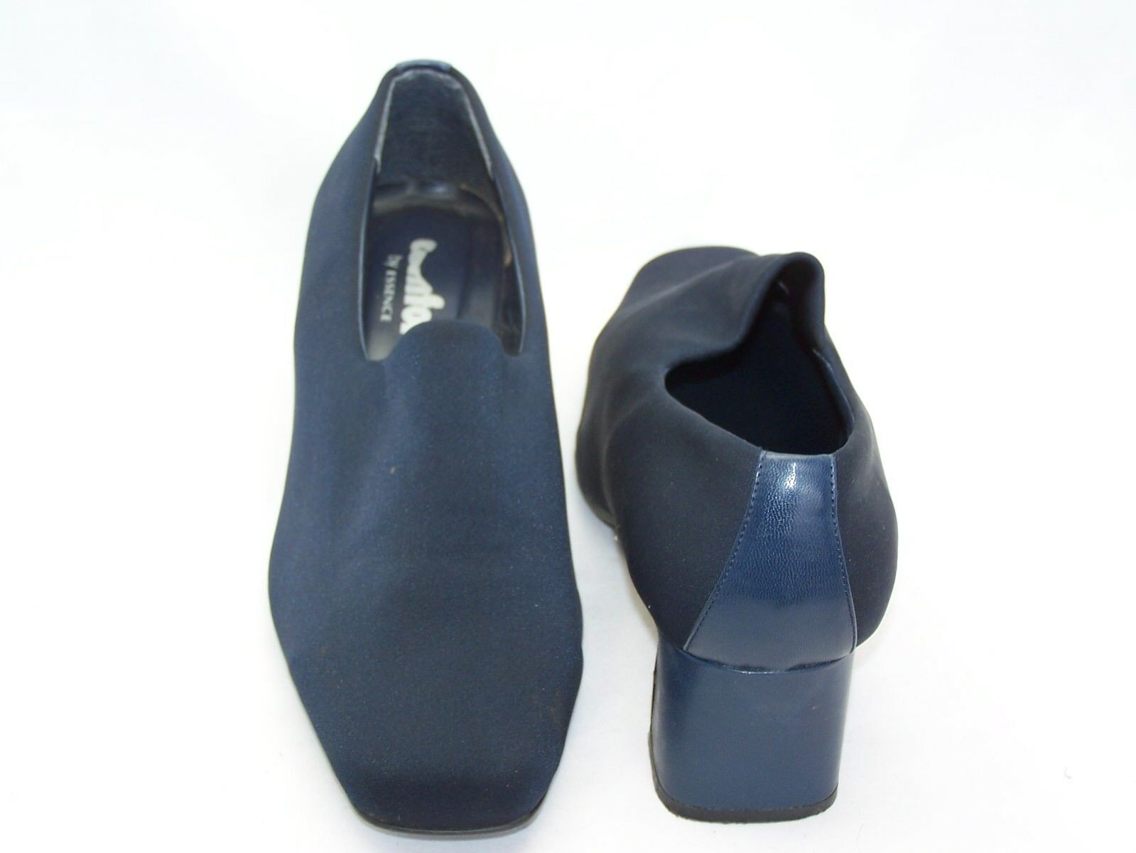 Size 8 navy ble high front, Comfort block heel shoes from Comfort front, by Essence 9790cd