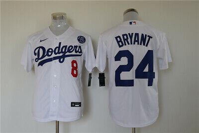 Men's Los Angeles Dodgers #24 Kobe Bryant White KB Patch MLB Cool Base Jersey   eBay