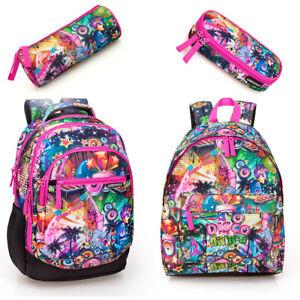 Pink-Disco-Girls-Backpack-Rucksack-Laptop-Travel-Work-PREMIUM-School-Bag