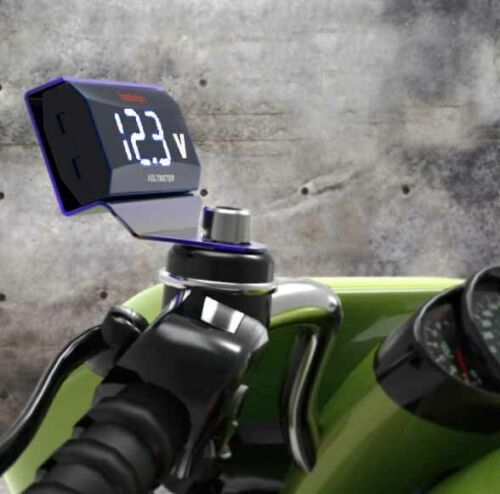 LED Auto Motorrad Digitalanzeige 12V-150V DC Digitalvoltmeter Wasserdicht Weiß