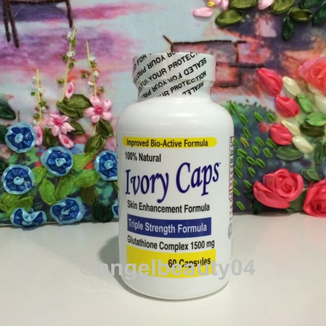 Ivory Caps Glutathione Skin Whitening Pills 1500 MG Thistle Capsules Exp: 05/19