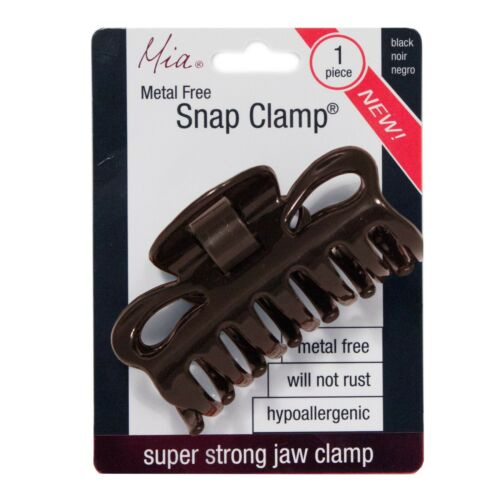Mia Snap Clamp® Super Strong Metal-free Jaw Clamp Hair Accessory French Twist