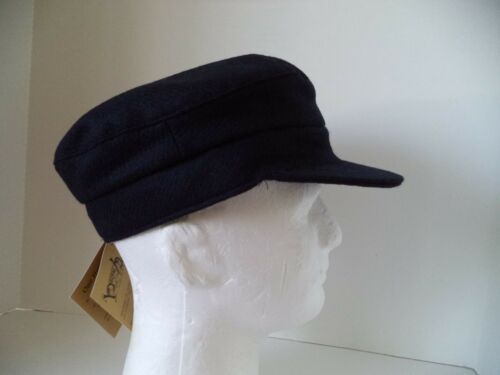 Hanna Hat Navy blue Skippers cap tweed Irish Donegal Fisherman Ireland