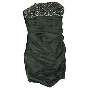 Laona Abend Pencil Abschluss Party Brautjungfern Kleid Kurz 36 Grau Pailetten Ebay