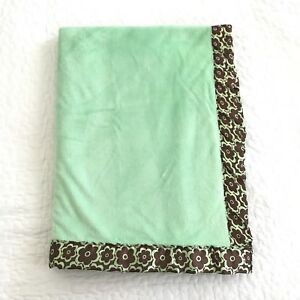 Northpoint Baby Blanket Mint Green Plush Velour Sherpa