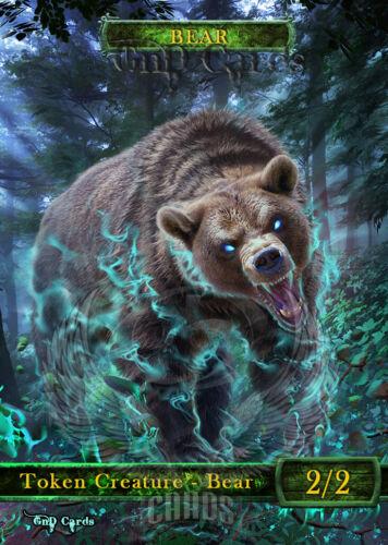 3x Bear #1 Custom Altered Tokens MTG Modern Horizons