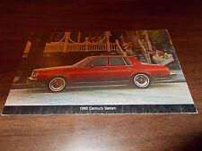 1980 Buick Century Sedan Advertising Postcard