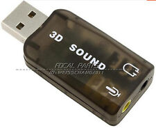 USB 2.0 External 3.5 Mic Speaker 3D 5.1 Channel Audio PC Sound Card Adapter