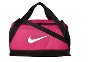 Nike Brasilia Duffel Bag PINK Training Sports Holdall Gym Bag Small ... b8bf89f3622fc