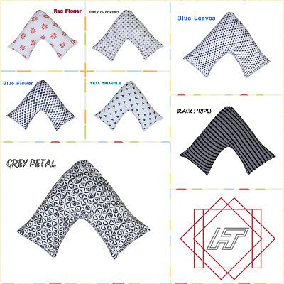 Printed 100/% Egyptian Cotton V Shape Pillow Cases Ideal For Nursing Single//Sets