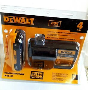 Details about  / NEW DEWALT DCB113 CHARGER /& 1 20V MAX 4.0 AH DCB240 COMPACT LITHIUM BATTERY