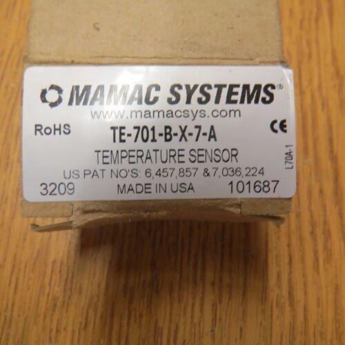 MAMAC SYSTEMS TE-701-B-X-7-A  TEMPERATURE SENSOR NEW IN BOX