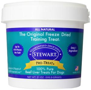 STEWARTS TREATS 400648 Dried Beef Liver Treats