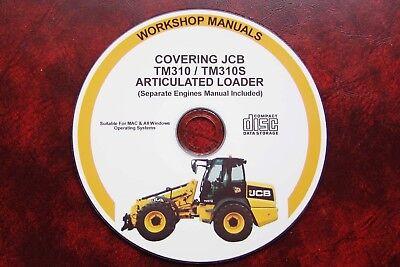 incluso motores Jcb TM310//TM310s Manual De Servicio Taller articulada Loader