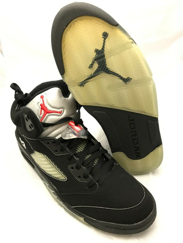 NEW DS Nike Air Jordan 5 (V) Retro Black Mens Metallic 2006 Size 11 Mens Black 136027 004 b57c4c