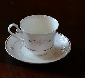 villeroy boch aragon bone china cup and saucer heinrich germany 109386 ebay. Black Bedroom Furniture Sets. Home Design Ideas