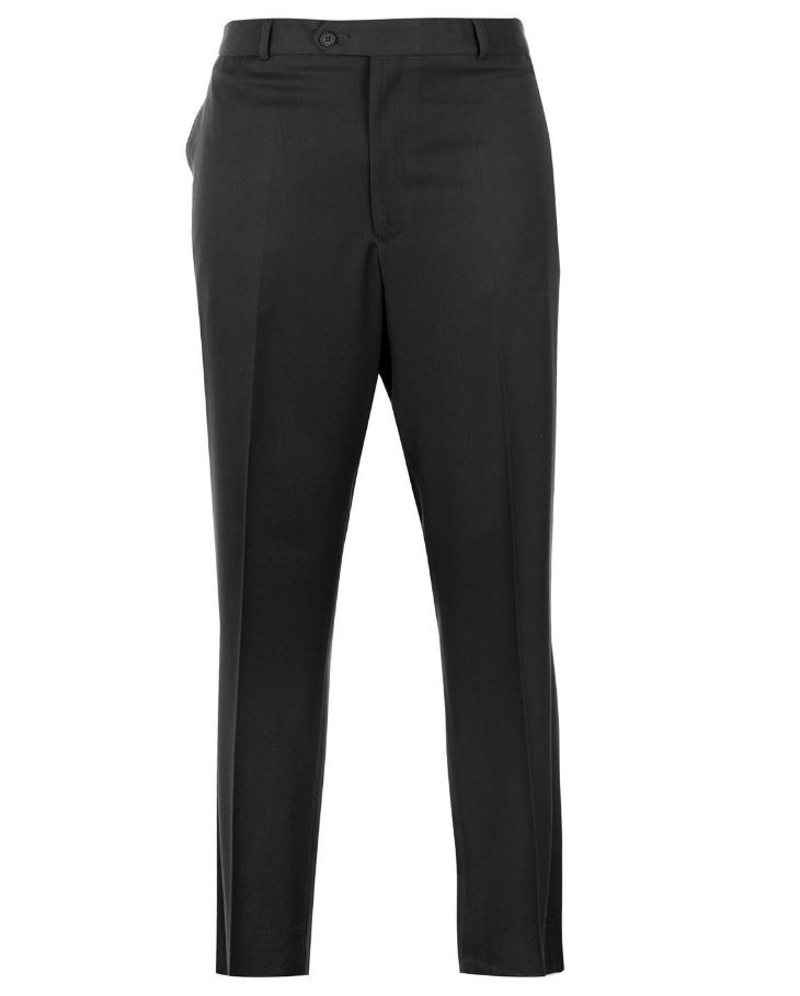 Amical Jonathon Charles Homme Teflon Smart Pantalon Noir Taille Uk 32 Xl * R37 Valeur Formidable