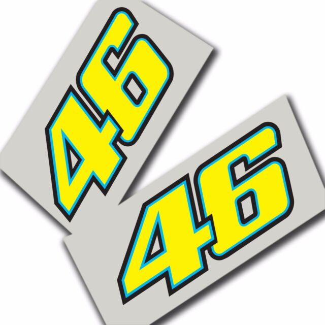 Rossi 46 new style stickers motorcycle decals custom graphics x 2