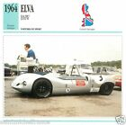 ELVA BMV 1964 CAR VOITURE Great Britain GRANDE BRETAGNE CARTE CARD FICHE