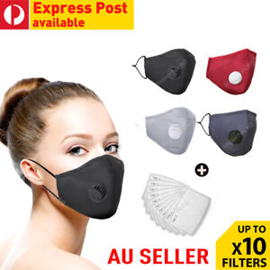 Washable Reusable Anti Air Pollution Face Mouth Mask Respirator + Free Filters