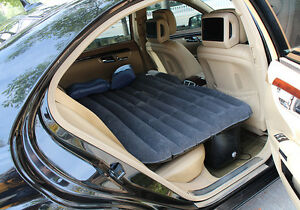 Waterproof-Mattress-Car-Inflatable-Bed-Air-Bed-Cushion-Thickening-Pump-Black