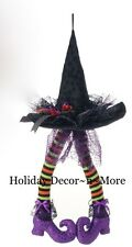 item 1 23 hanging witch hat wposeable legs raz h3416027 halloween decor wreath gift 23 hanging witch hat wposeable legs raz h3416027 halloween decor