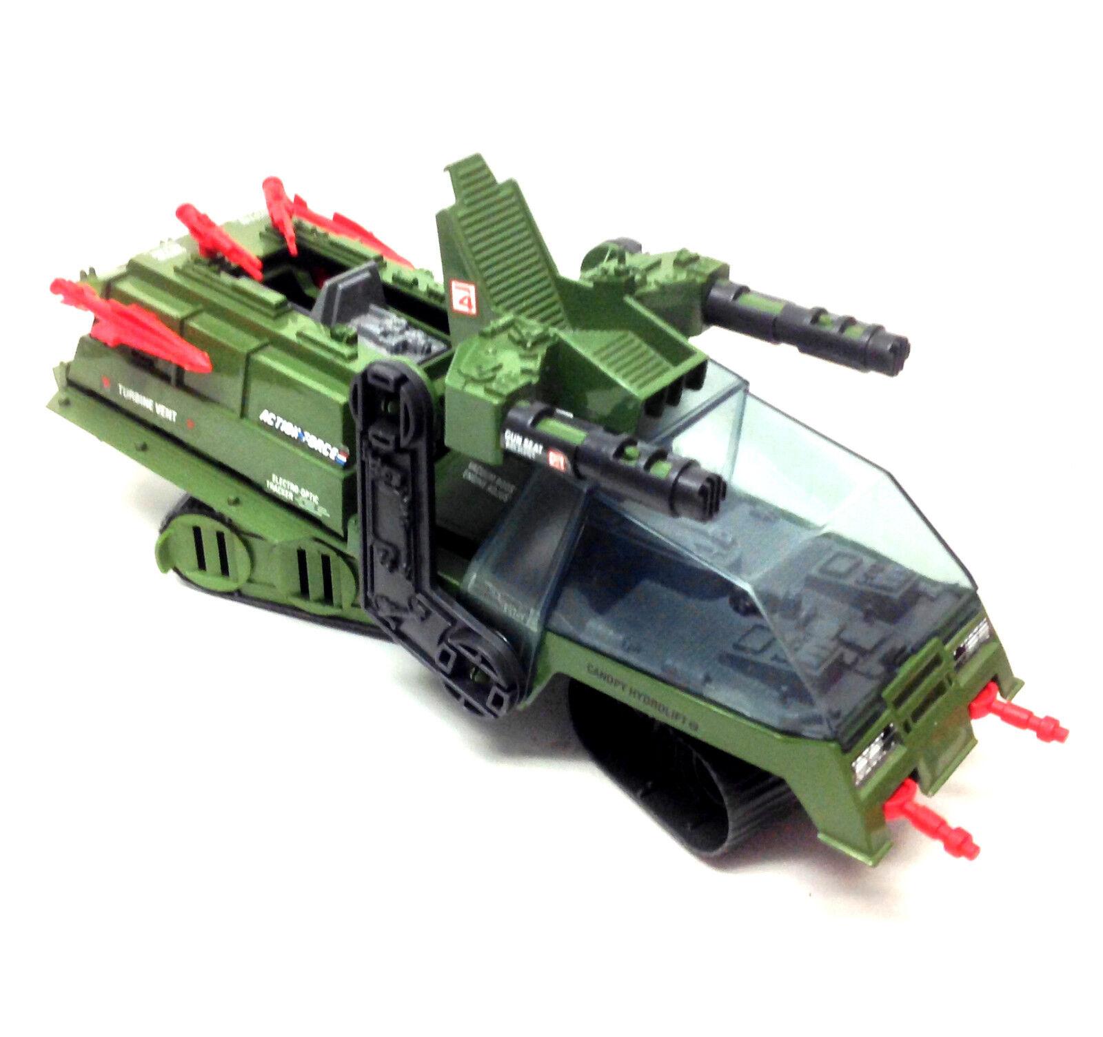 80s Original Gi Joe UK Action Force toys HAVOC vehicle for 4  figures RARE