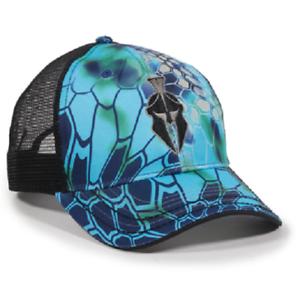 Kryptek Pontus//Black Mesh Back Cap Hunting Hat Trucker Camo Hat Baseball Cap
