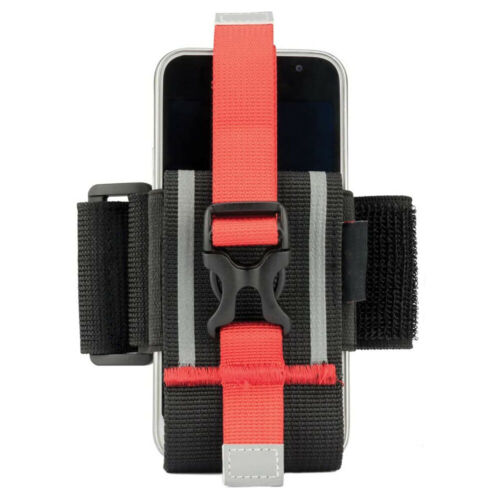 Exercise Cell Phone Armband for Running Workouts Adjustable with Lanyard Red