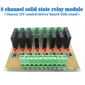 Eight-Channels-Solid-State-Relay-Module-Control-Panel-Module-DC-12V-NPN
